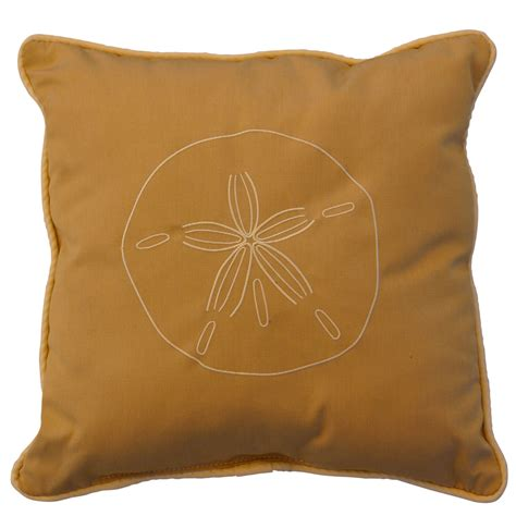 Sand Dollar Pillow by Sand Dollar Ribbed Embroidered Outdoor Pillow Wheat
