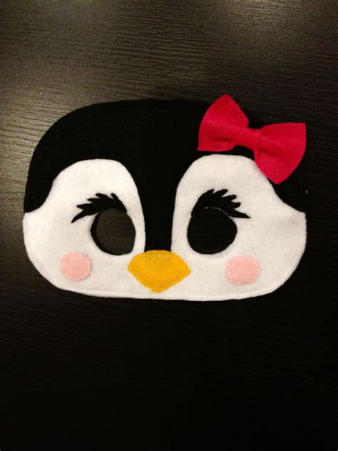 printable penguin face mask template penguin mask party ideas pinterest penguins