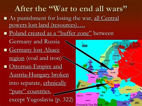 after the war ottoman lands were divided into ppt history and culture of europe powerpoint