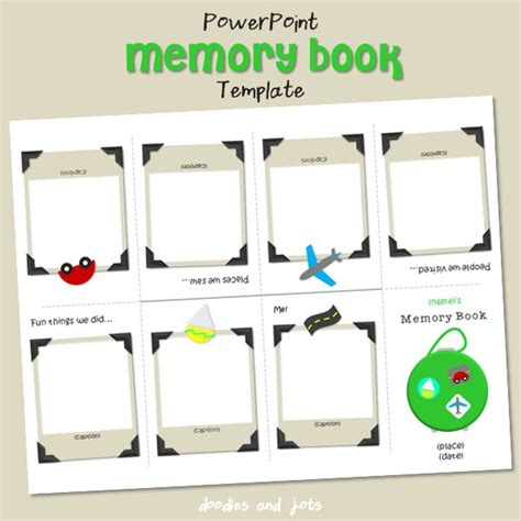 Memory Book For Baby Printable Template But Can Be Used For Some Many Other Possibilities Memory Template For Powerpoint