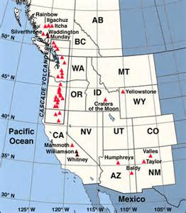 map of western united states and canada