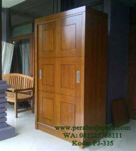 Lemari Kayu 500 Ribu lemari pakaian minimalis model sliding geser 3 pintu ready