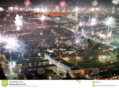 fireworks on new years eve stock image image 36382601