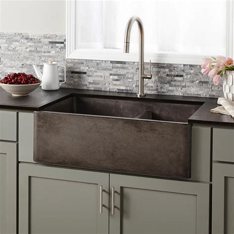 Farmhouse Double Bowl Concrete Kitchen Sink Native Trails Sinks Kitchens