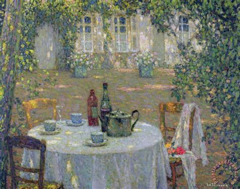 The Garden Table by Henri Le Sidaner The Table In The Sun In The Garden