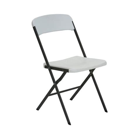 lifetime white folding chair set of 6 684016 the home