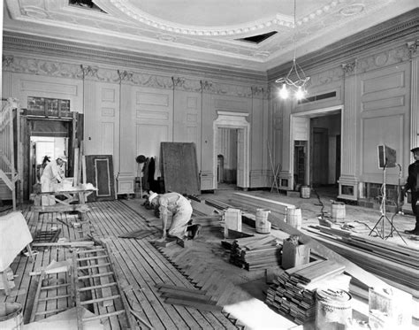 under house renovation white house state dining room 1952 photos white house under renovation in the