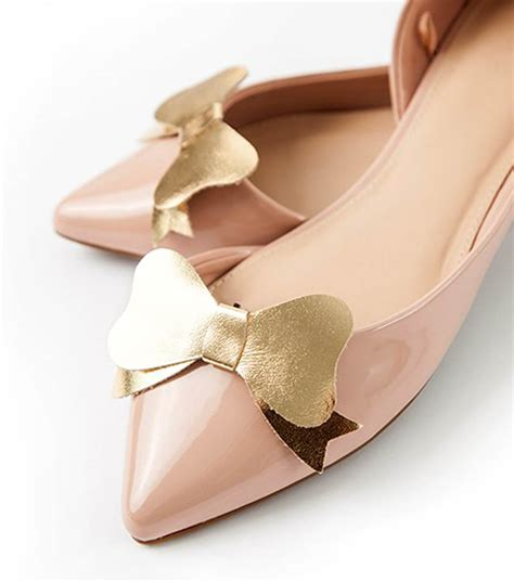 Bow Shoes gold leather bow shoe joann jo