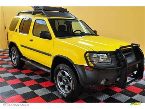 nissan yellow 2002 solar yellow nissan xterra se v6 sc 4x4 14843544