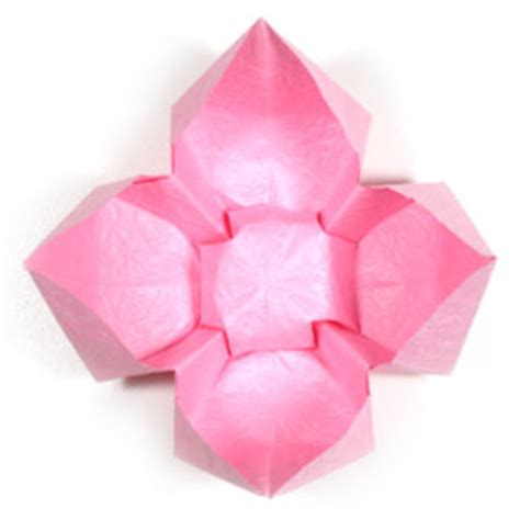 Origami Lotus Flower Easy - how to make a simple origami lotus flower page 8