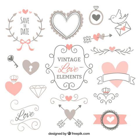 imagenes amor vintage elementos vintage de decoraci 243 n de amor descargar