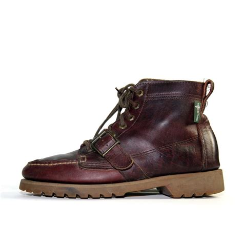 with boots vintage eastland buckle hiker boots with vibram by