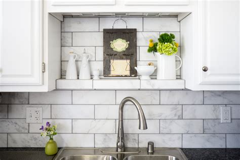 marble subway tile backsplash spaces transitional with my