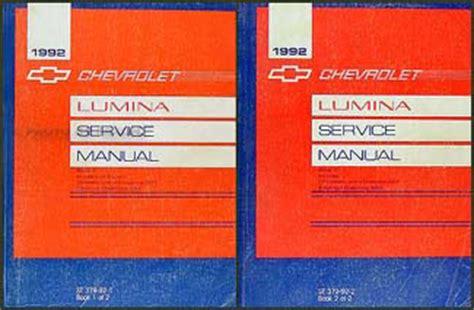 car repair manuals online free 1992 chevrolet lumina apv free book repair manuals 1992 chevy lumina car repair shop manual original 2 volume set