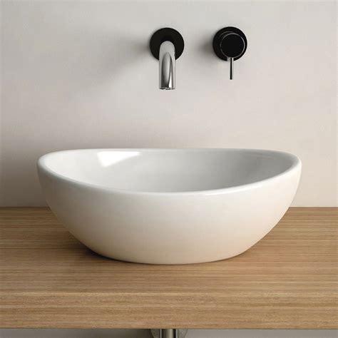 Vasque à poser ovale 40x33 cm céramique, Aoki