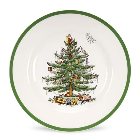 spode christmas tree dinner plate 10 5 inch set of 4