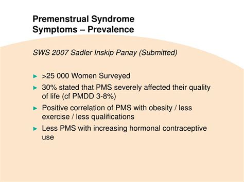 8 Pms Symptoms We by Ppt Premenstrual Pathophysiology Definition Of
