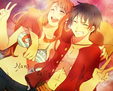 luffy and nami nami and luffy by wishaponastar3 on deviantart