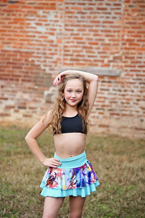 skirt pre teen flexi frilly skirt blue for kids and pre teens