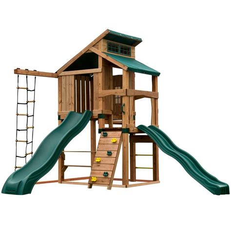 swing n slide alpine swing n slide playsets hideaway clubhouse plus playset