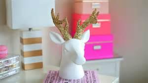Guys Bedroom Ideas diy chrismas winter room decor sparkly deer head youtube