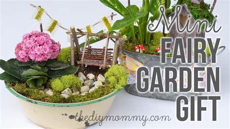 diy miniature fairy garden gift youtube