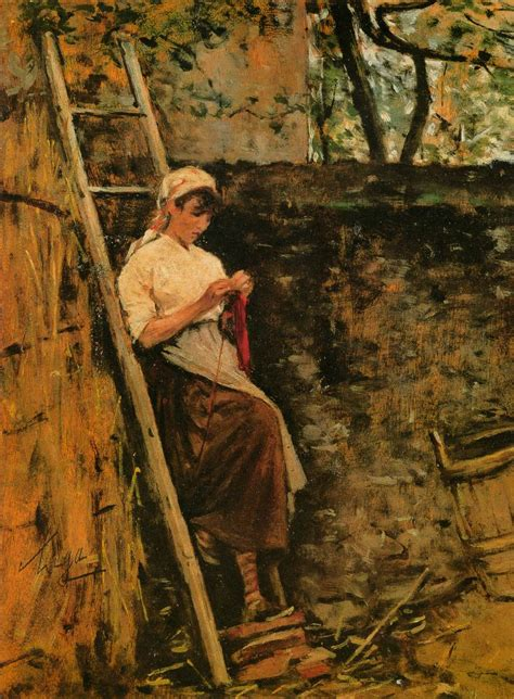 country l country leaning against a ladder by lega silvestro