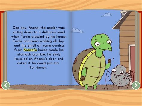 printable version of anansi wisdom story anansi and the turtle story story education com