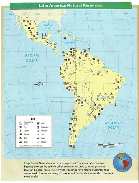 america resources map s america project links