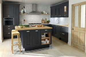 Compact Appliances For Small Kitchens - classic shaker milbourne door in a bold charcoal