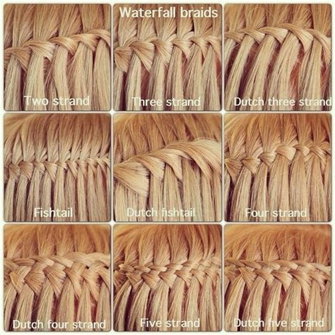 difrent weave braiding hair styles images 10 pretty waterfall french braid hairstyles different