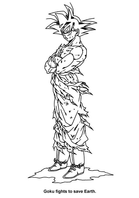 coloring page dragon ball z coloring pages 43