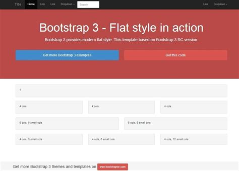 bootstrap 3 rc exles and templates exle