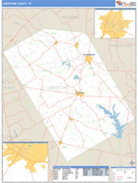 limestone county texas map limestone county tx zip code wall map basic style by marketmaps