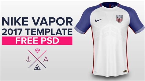 Nike Vapor 2017 Shirt Template Usa Soccer Youtube Nike Vapor Shirt Template