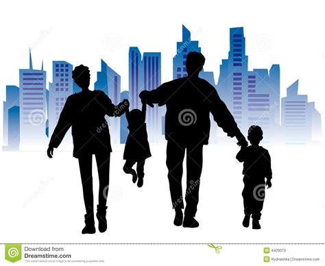 imagenes de la familia urbana familia feliz paisaje urbano fotos de archivo imagen