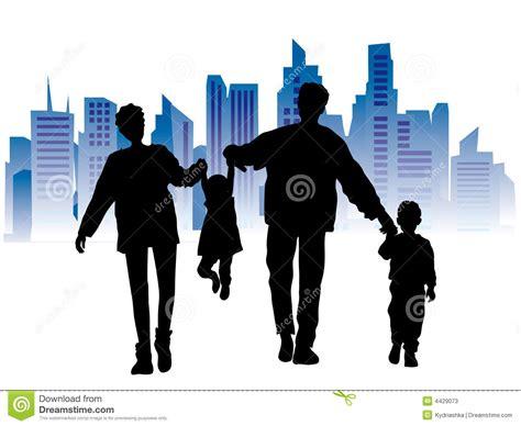 imagenes de familias urbanas familia feliz paisaje urbano ilustraci 243 n del vector