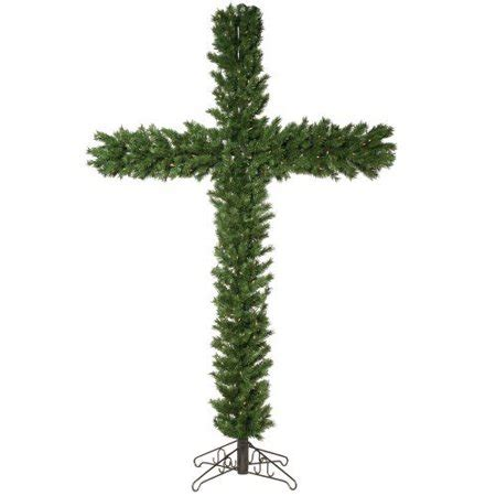 memory wire 4 12 ft christmas tree vickerman 7 5 artificial cross with 250 clear lights walmart