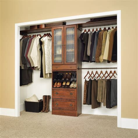 closet storage sectional open wall closet ideas with brown wooden cloth