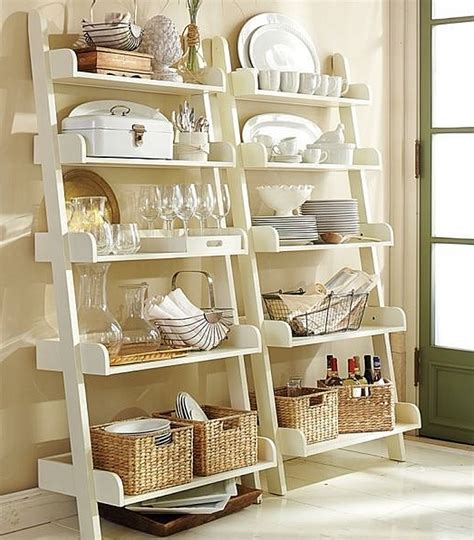 kitchen shelf decorating ideas decorating with leaning ladder shelves burger