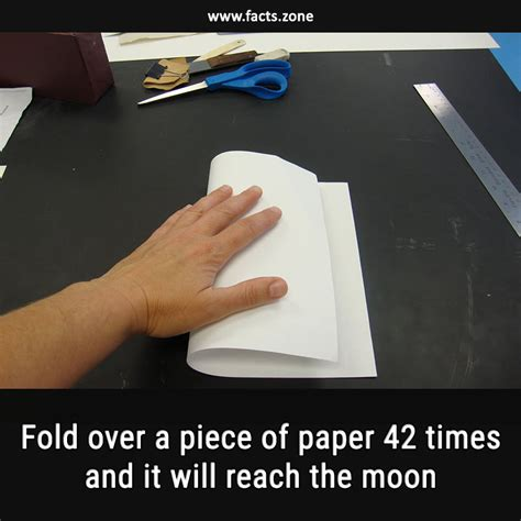 Fold Paper Moon - facts zone fold a of paper 42 times and