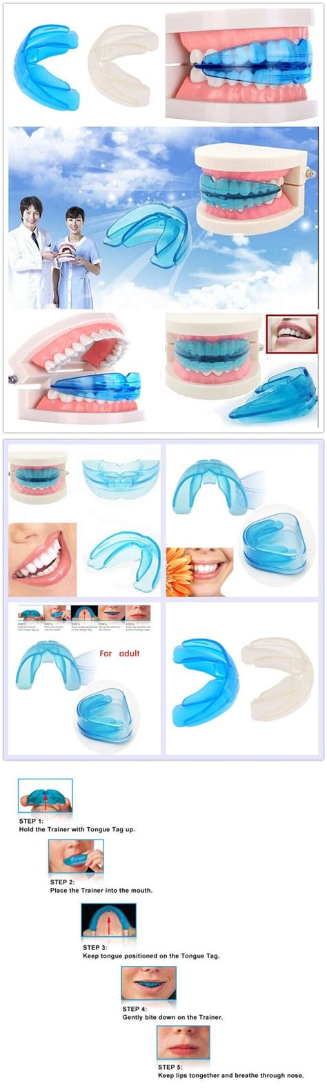 Trainer Ortho Trainer Alignment blue teeth orthodontic trainer alignment tool for lazada malaysia