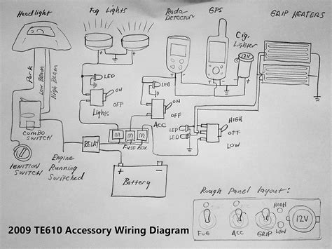 te accessory wiring diagram feedback  adventure rider