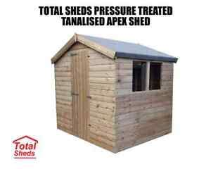 total sheds garden apex shed pressure treated tanalised