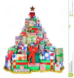 Christmas tree of presents stock image image 17297141