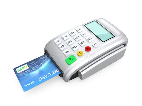 how to make a credit card reader credit card inserted into a silver card reader stock photo