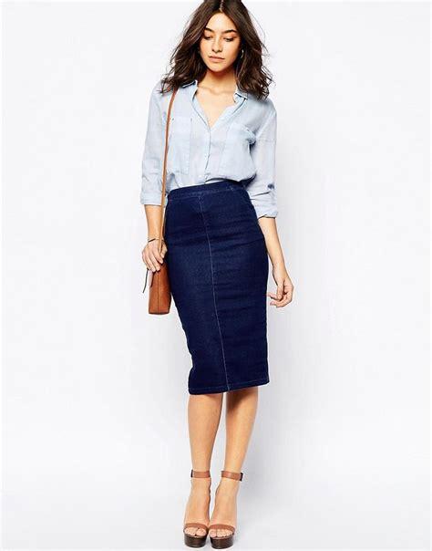 25 best ideas about denim pencil skirt on