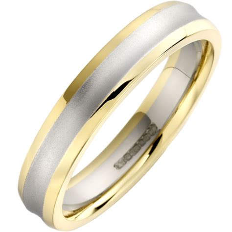 a stunning mixed finish wedding ring in 18ct white