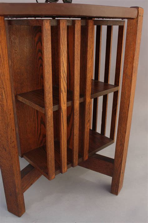 Bookcase Table by Arts And Crafts Table With Revolving Bookcase At 1stdibs