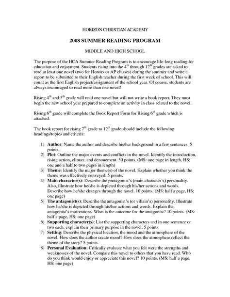 book report template 6th grade best photos of book report exles college book report format sle book report sle and